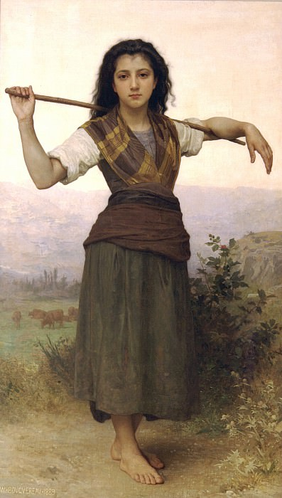 The Little Shepherdess. Adolphe William Bouguereau