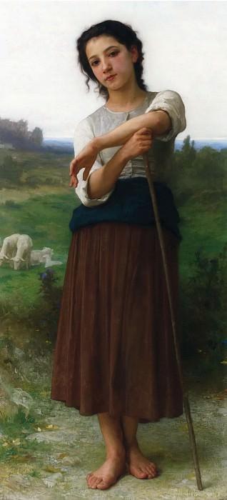 Юная пастушка. Адольф Уильям Бугро