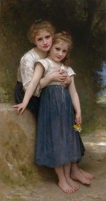 Two sisters. Adolphe William Bouguereau