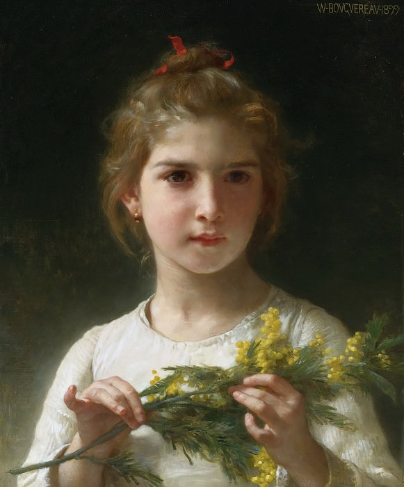 MIMOSA. Adolphe William Bouguereau