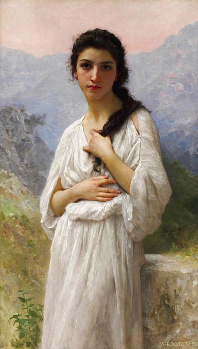 The Waiting. Adolphe William Bouguereau