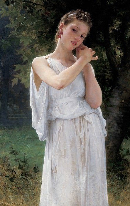 Earrings. Adolphe William Bouguereau