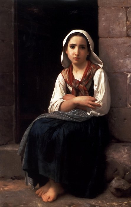 Yvonette. Adolphe William Bouguereau