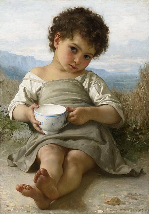 Чашка молока. Адольф Уильям Бугро