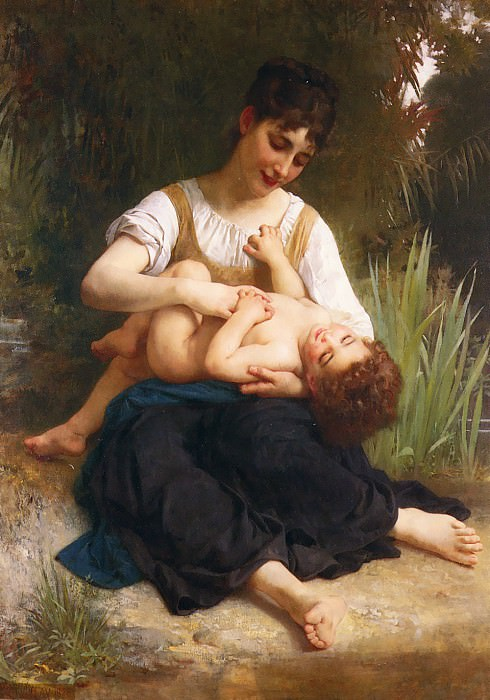 The Joys of Motherhood. Adolphe William Bouguereau
