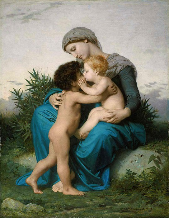 Brotherly love. Adolphe William Bouguereau