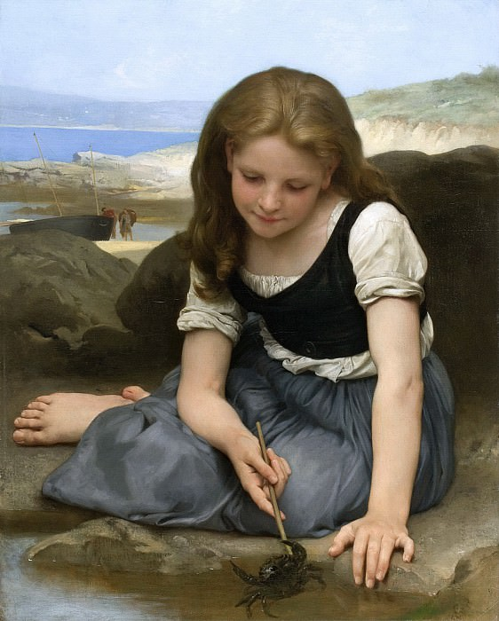 The Crab. Adolphe William Bouguereau