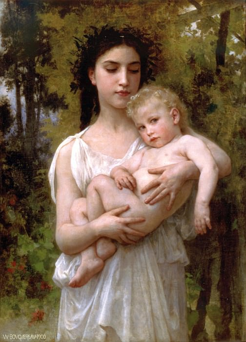 The young brother. Adolphe William Bouguereau