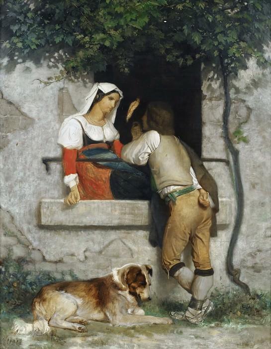 Итальянские влюбленные. Адольф Уильям Бугро