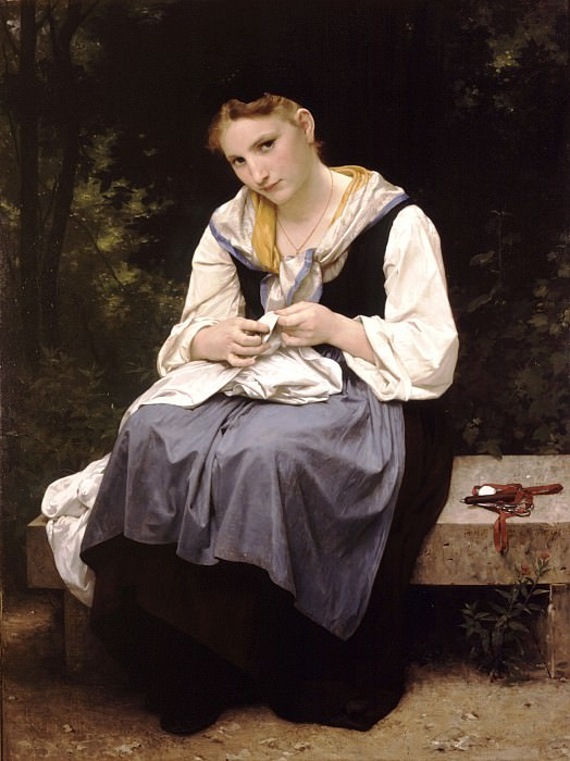 A young working woman. Adolphe William Bouguereau
