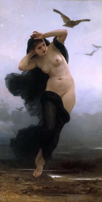 Night. Adolphe William Bouguereau