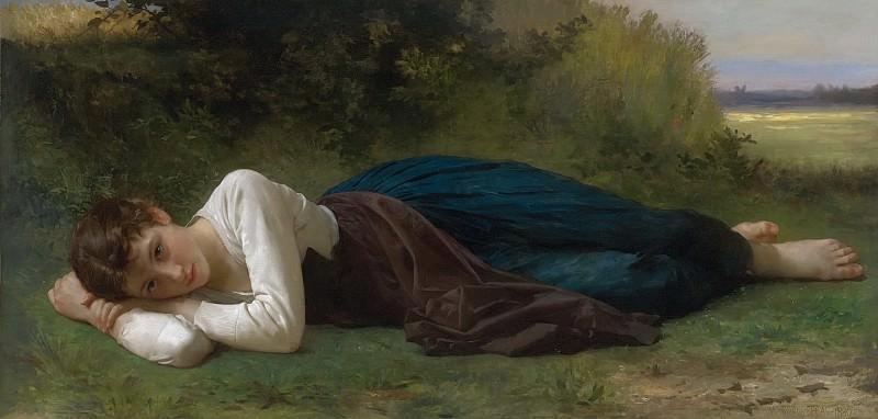 THE REST. Adolphe William Bouguereau