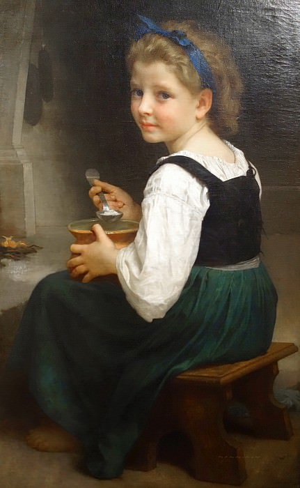 Girl Eating Porridge. Adolphe William Bouguereau