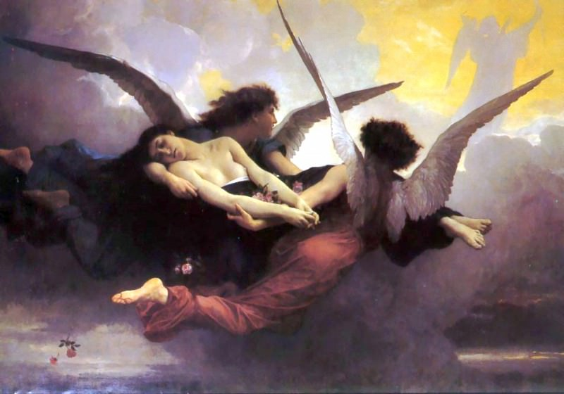 Soul Carried to Heaven. Adolphe William Bouguereau