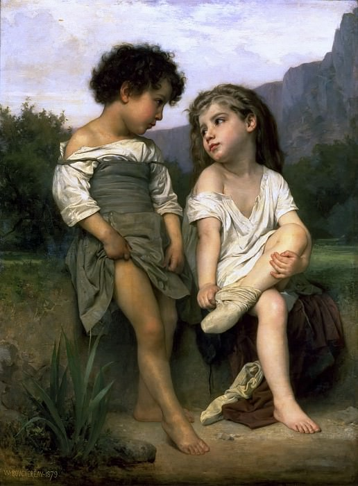 Young Bathers. Adolphe William Bouguereau