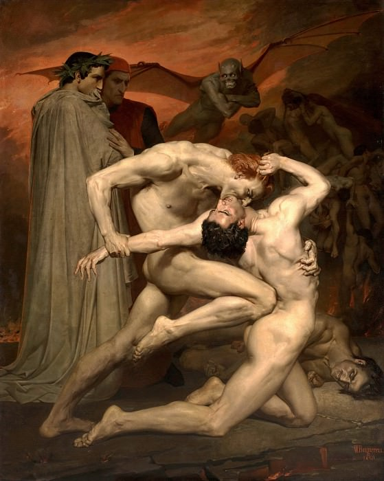 Dante and Virgil in Hell. Adolphe William Bouguereau