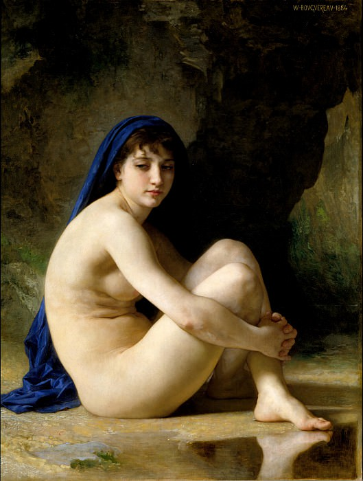 Seated bather. Adolphe William Bouguereau