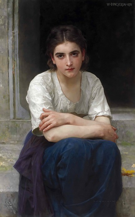 Reverie on the threshold. Adolphe William Bouguereau