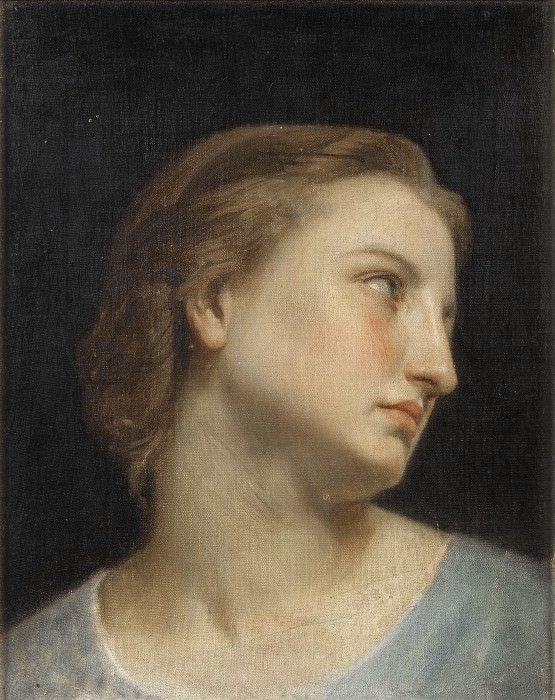 STUDY OF A WOMAN´S HEAD. Adolphe William Bouguereau