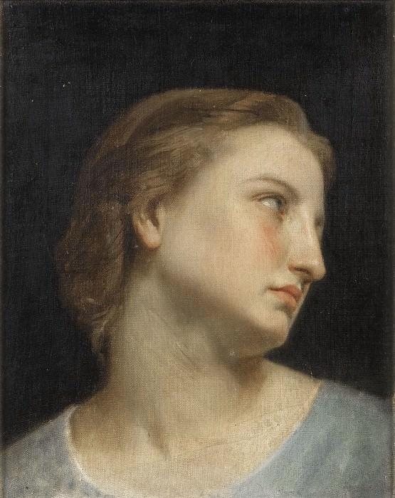 Голова женщины (этюд). Адольф Уильям Бугро