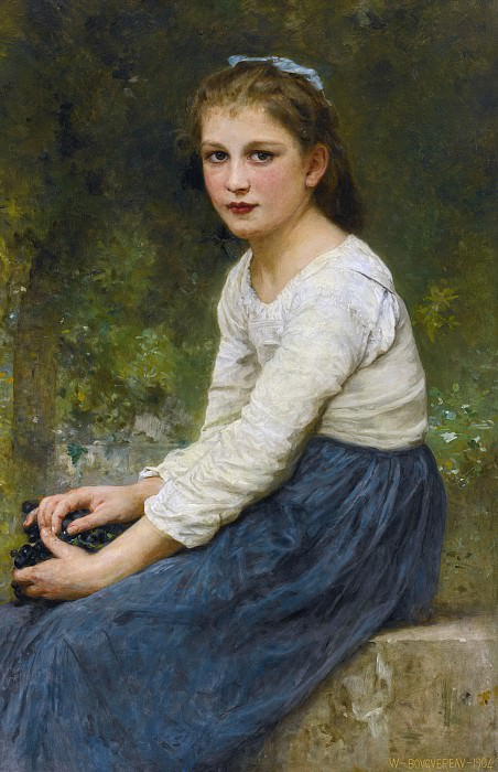Girl With Grapes. Adolphe William Bouguereau