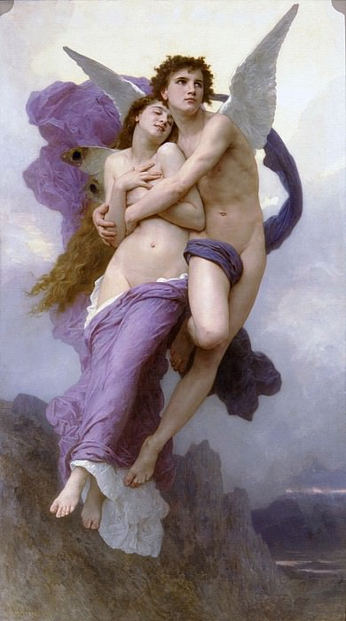 The Abduction of Psyche. Adolphe William Bouguereau