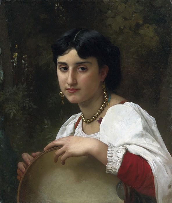 Italian with a tambourine. Adolphe William Bouguereau