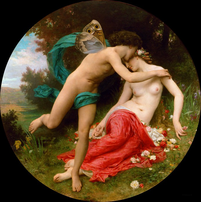 Flora and Zephyr. Adolphe William Bouguereau