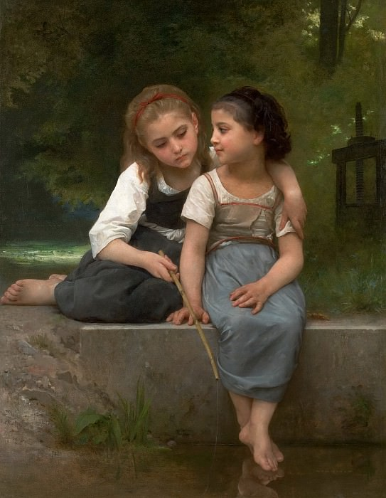 Fishing For Frogs. Adolphe William Bouguereau