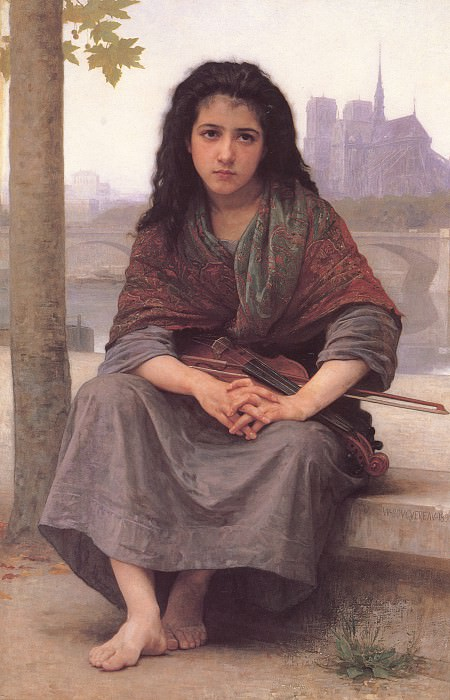 The Bohemian. Adolphe William Bouguereau