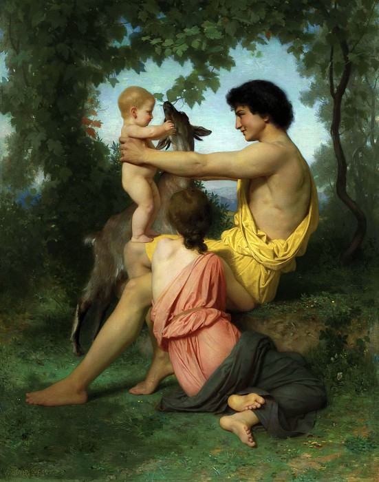 Idylle: famille antique. Adolphe William Bouguereau
