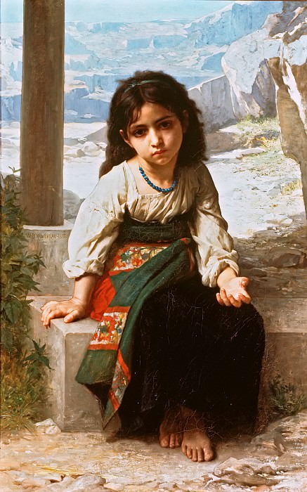 A little beggar. Adolphe William Bouguereau