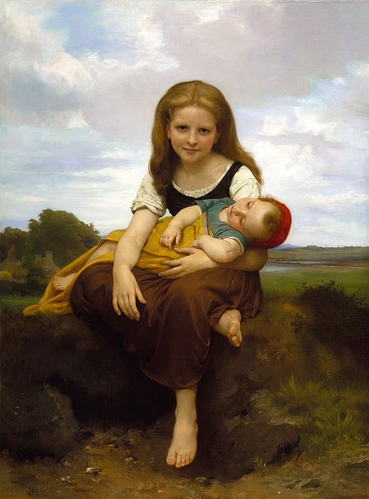 Elder Sister. Adolphe William Bouguereau