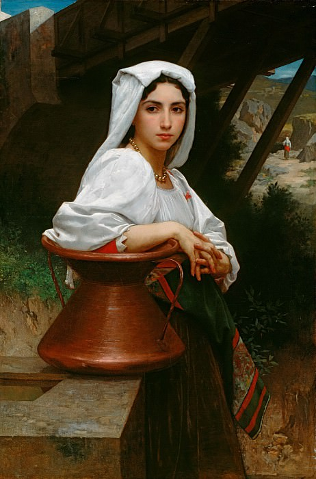 Italian Girl Drawing Water. Adolphe William Bouguereau
