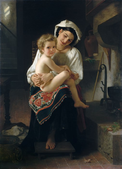 Young mother with child. Adolphe William Bouguereau