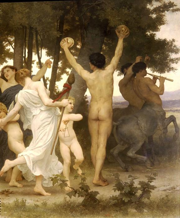 Youth of Bacchus (fragment). Adolphe William Bouguereau