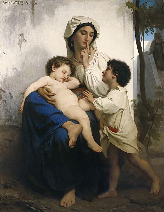 Asleep. Adolphe William Bouguereau