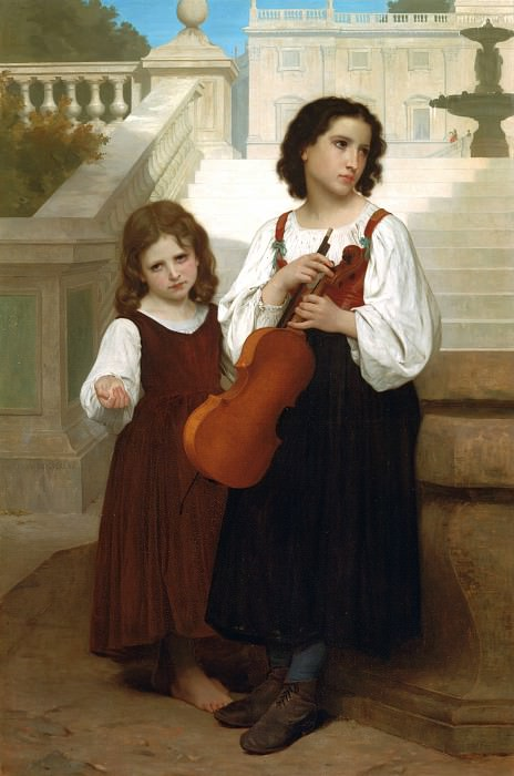 Far from home. Adolphe William Bouguereau