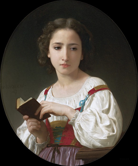 THE BOOK OF HOURS. Adolphe William Bouguereau