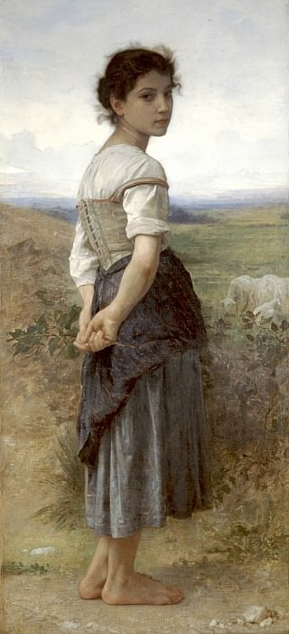 Young shepherdess. Adolphe William Bouguereau