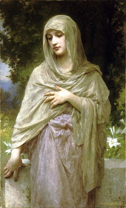 Modesty. Adolphe William Bouguereau