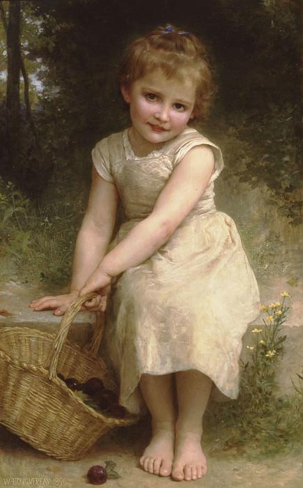 Plums. Adolphe William Bouguereau