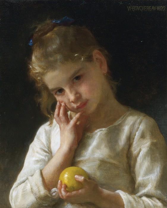 The lemon. Adolphe William Bouguereau