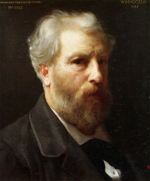 Self-portrait. Adolphe William Bouguereau