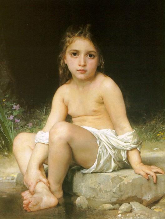 Child at Bath. Adolphe William Bouguereau