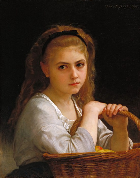 Young Girl with a Basket of Fruit. Adolphe William Bouguereau