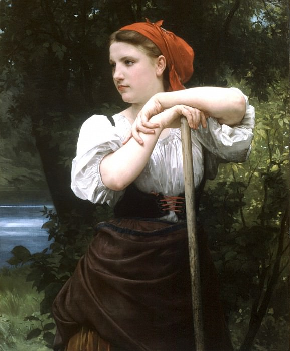 The Haymaker. Adolphe William Bouguereau