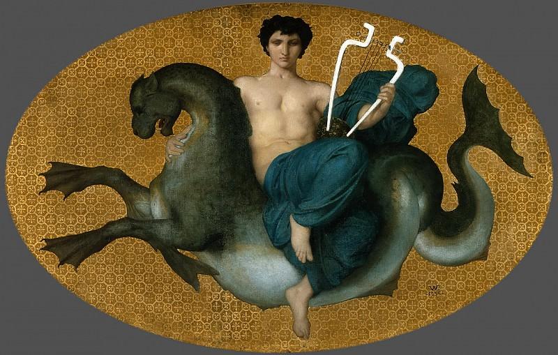 Арион на морском коне. Адольф Уильям Бугро