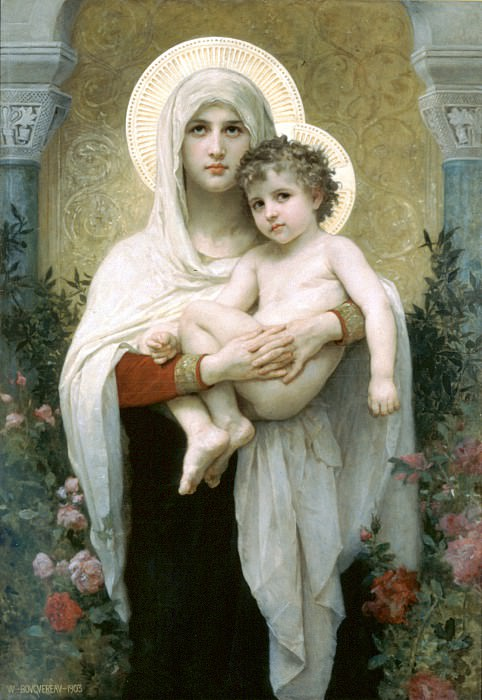 The Madonna of the Roses. Adolphe William Bouguereau