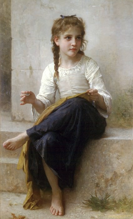 The seamstress. Adolphe William Bouguereau